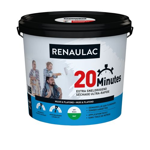 Renaulac latex 20 Minutes mat wit 5L