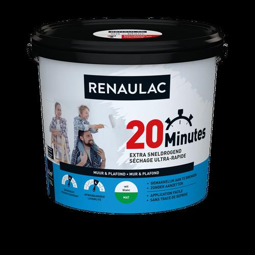 Renaulac binnenmuurverf 20 Minutes mat wit 5L
