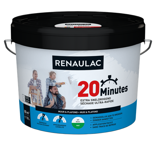 Renaulac latex 20 Minutes mat wit 10L