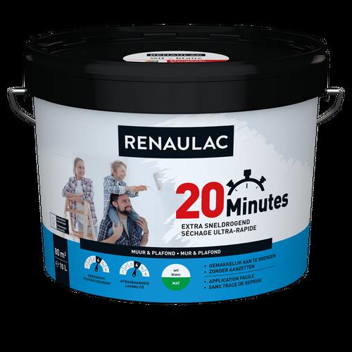 Renaulac binnenmuurverf 20 Minutes mat wit 10L