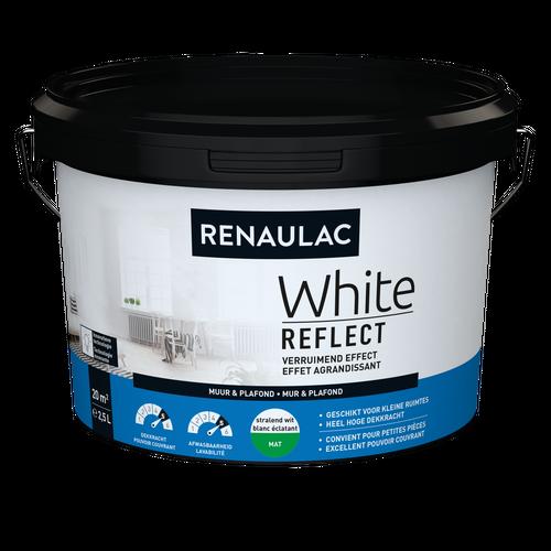 Renaulac binnenmuurverf White Reflect mat wit 2,5L