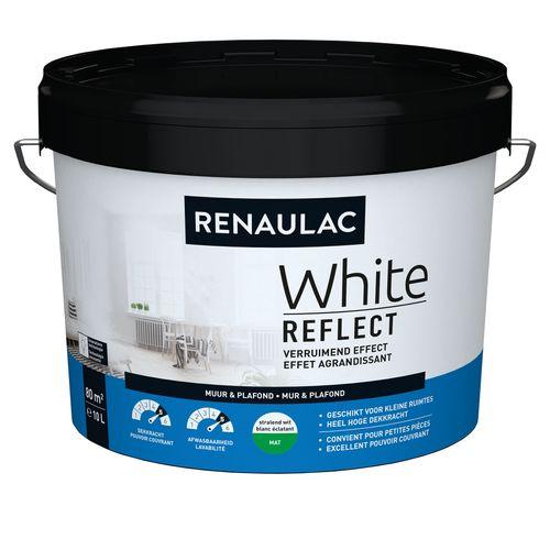 Renaulac binnenmuurverf White Reflect mat wit 10L