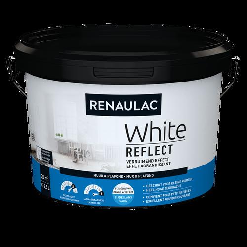 Renaulac latex White Reflect zijdeglans wit 2,5L