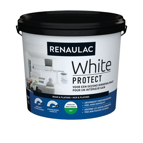Renaulac peinture murale White Protect mat blanc 5L