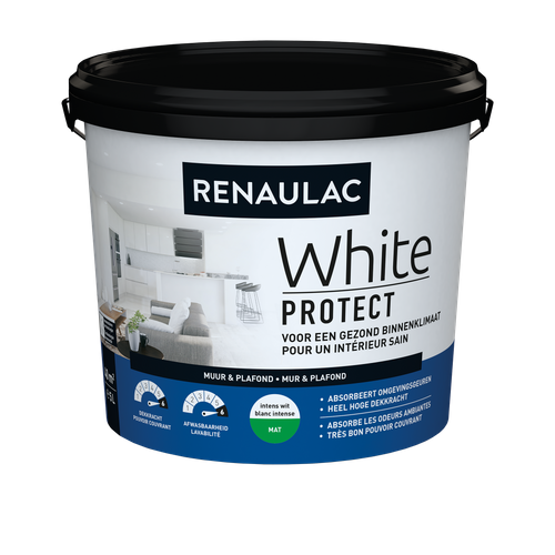 Renaulac latex White Protect mat wit 5L