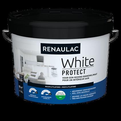 Renaulac binnenmuurverf White Protect mat wit 10L
