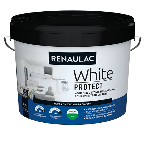 Renaulac latex White Protect mat wit 10L