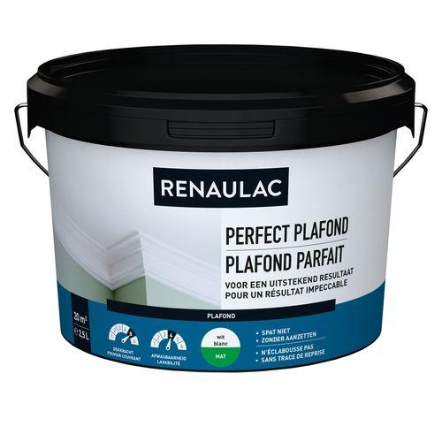 Renaulac peinture plafond Plafond Parfait mat blanc 2,5L