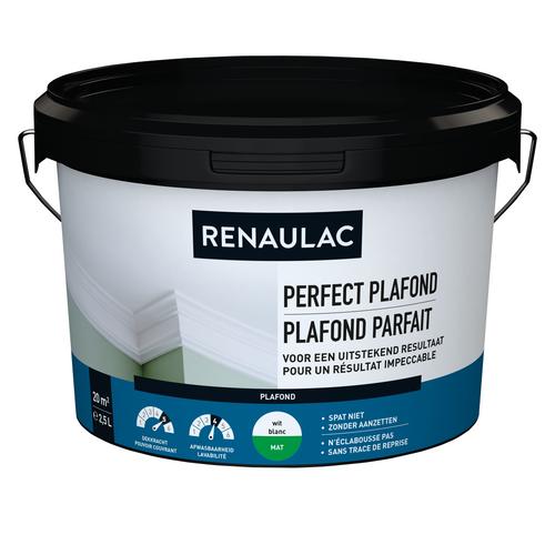 Renaulac plafondverf Perfect Plafond mat wit 2,5L