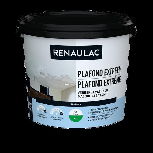 Renaulac plafondverf Extreem mat wit 5L