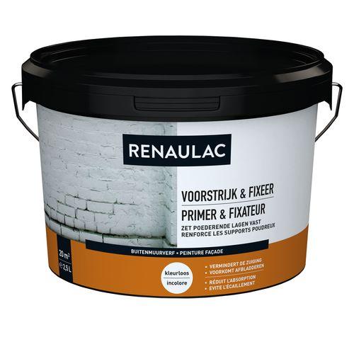 Renaulac buitenmuurverf Gevel primer & Fixeer transparant 2,5L