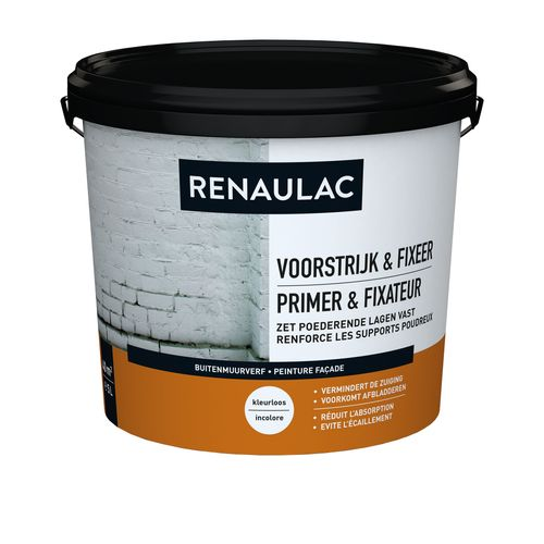 Renaulac buitenmuurverf Gevel primer & Fixeer transparant 5L