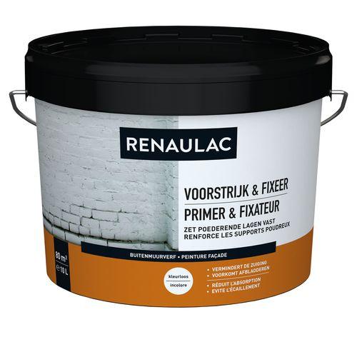 Renaulac buitenmuurverf Gevel Voorstrijk & Fixeer transparant 10L