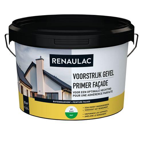 Renaulac buitenmuurverf Gevel Voorstrijk wit 2,5L