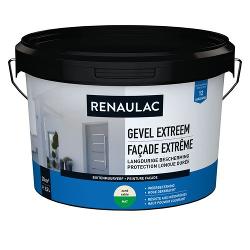 Renaulac buitenmuurverf Gevel Extreem mat zand 2,5L