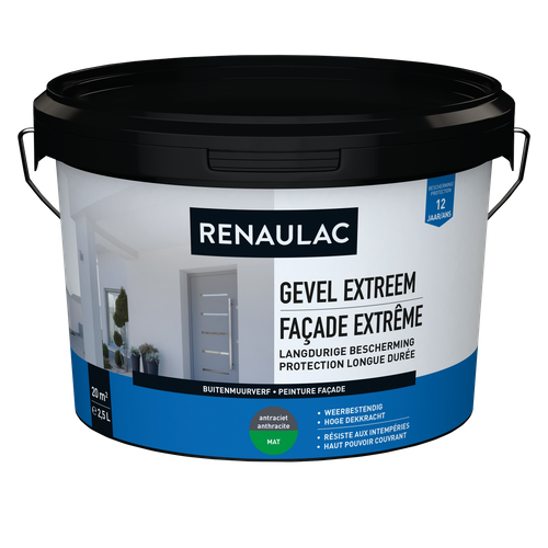 Renaulac peinture façade Extrême anthracite 2,5L