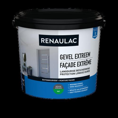 Renaulac buitenmuurverf Gevel Extreem mat antraciet 5L