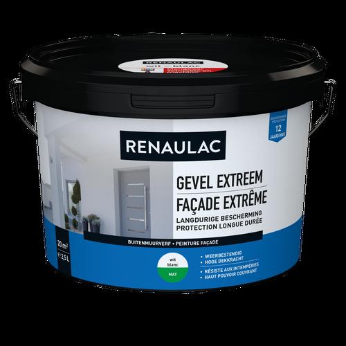 Renaulac buitenmuurverf Gevel Extreem mat wit 2,5L