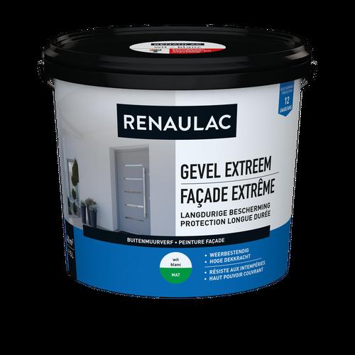 Renaulac buitenmuurverf Gevel Extreem mat wit 5L