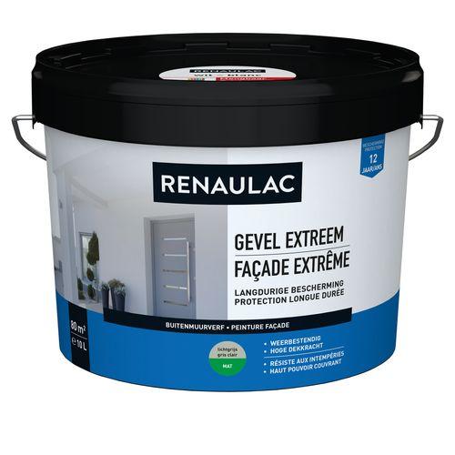 Renaulac buitenmuurverf Gevel Extreem mat lichtgrijs 10L
