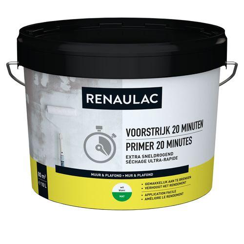Renaulac voorstrijk 20 Minutes wit 10L