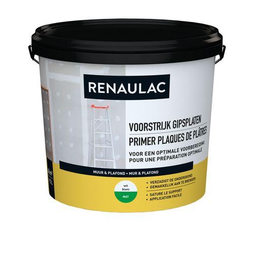 Renaulac voorstrijk Gipsplaten wit 5L