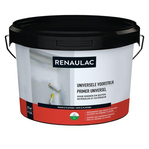 Renaulac voorstrijk Universeel wit 2,5L
