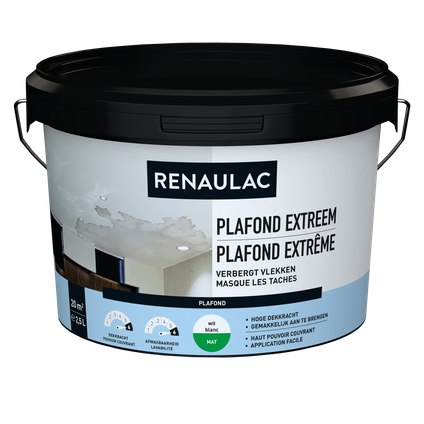 Renaulac plafondverf Extreem wit 2,5L