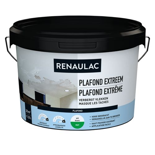Renaulac peinture plafond Extrême blanc 2,5L