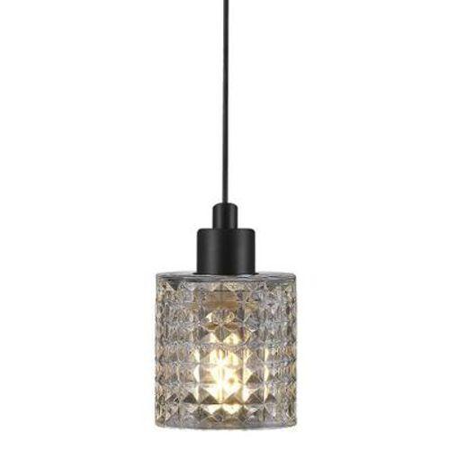 Nordlux hanglamp Hollywood zwart transparant E27