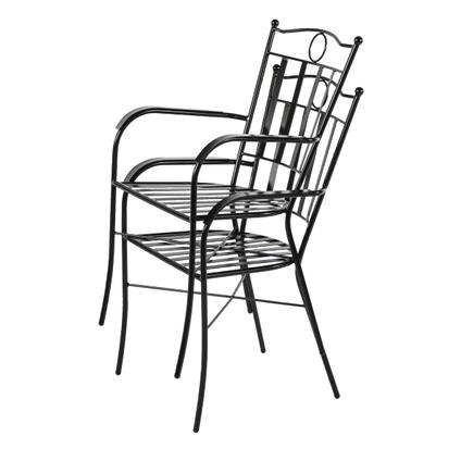 Chaise de jardin Central Park Ramira acier noir