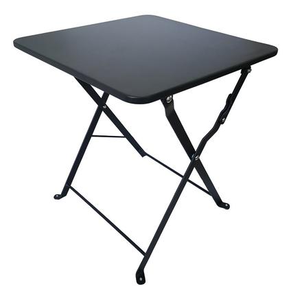 Table d'appoint de jardin Central Park Mini Stacy noir acier 40x40cm