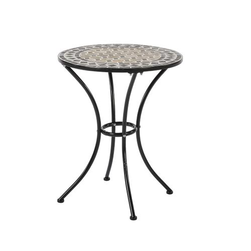 Table bistro Central Park Napoli acier Ø60cm