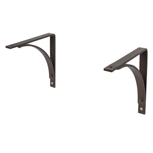 Duraline plankdrager arch industrieel zwart 19x19cm - 2 stuks