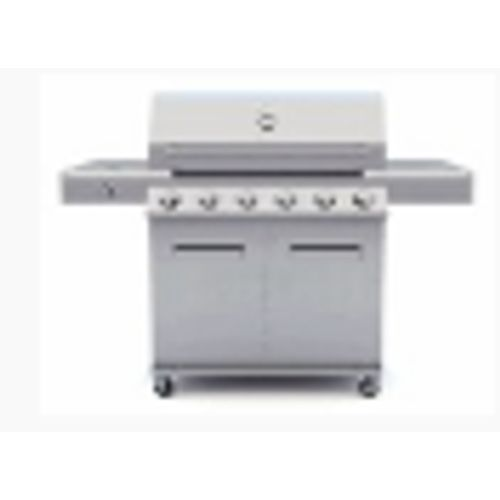 Gas- en houtskoolbarbecue