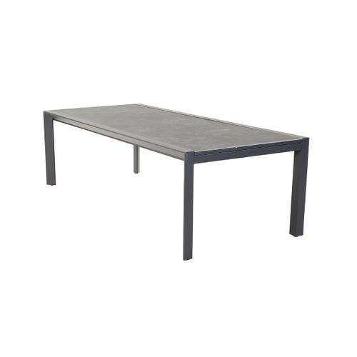Creazo uitschuifbare tuintafel aluminium keramiek 240-360x110cm