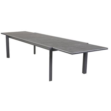 Tuintafel Creazo uitschuifbaar aluminium/keramiek 240-360x110cm