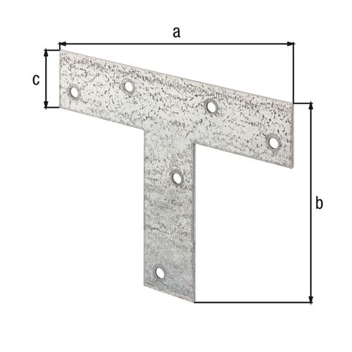 GAH Alberts verbindingsplaat T-vorm verzinkt 140x110x30mm