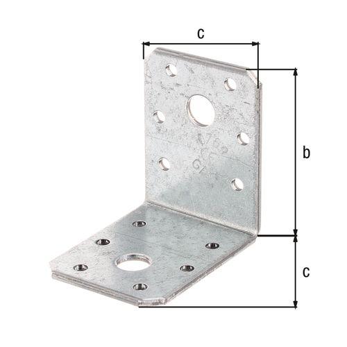 GAH Alberts hoekverbinder verzinkt ruwstaal 60x60x45mm