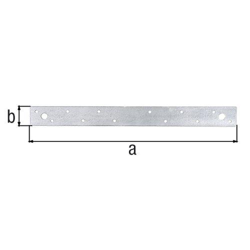 GAH Alberts verbindingsplaat verzinkt 400x30x2mm