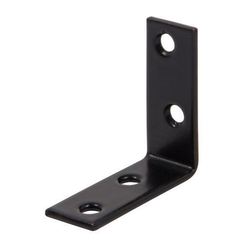 GAH Alberts hoekverbinder + kunststof coating zwart 40x40x15mm 1st.