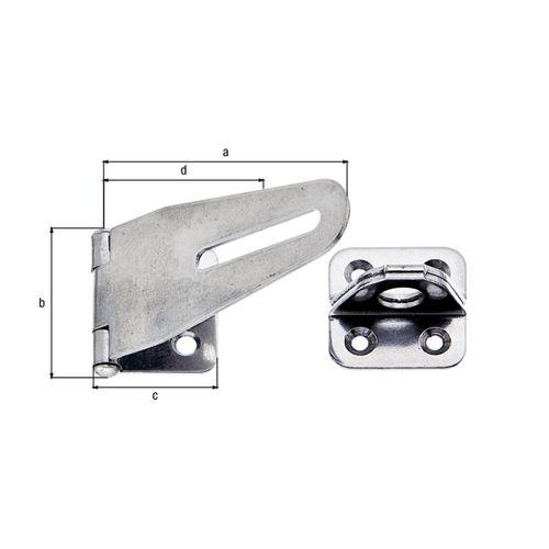Fermeture de sécurité GAH Alberts acier inoxydable 83mm