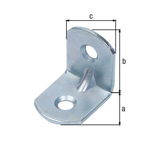 GAH Alberts hoekverbinder afgeronde uiteinden rib reliëf 20x20x16mm
