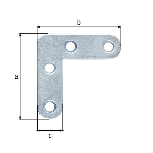 GAH Alberts meubelhoek afgeronde uiteinden galvanisch blauw 40x40x12mm