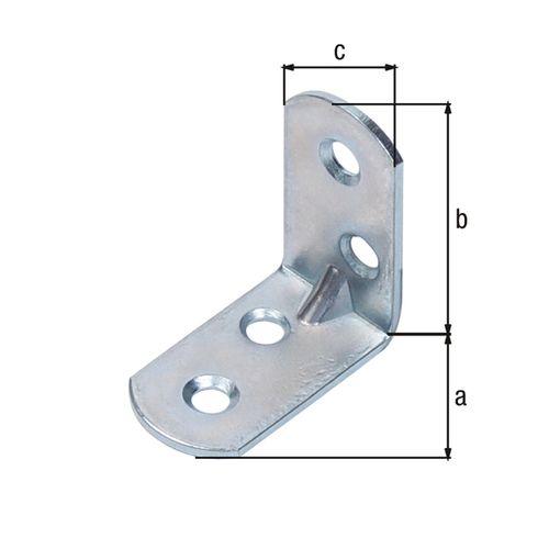 GAH Alberts hoekverbinder afgeronde uiteinden rib reliëf 30x30x16mm