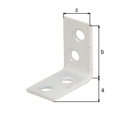 GAH Alberts hoekanker zinkfosfaat kunststof coating wit 40x40x15mm