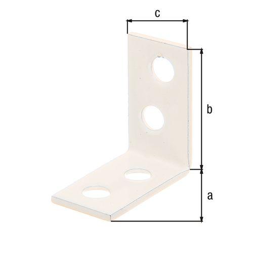 GAH Alberts hoekanker zinkfosfaat kunststof wit coating 60x60x16mm