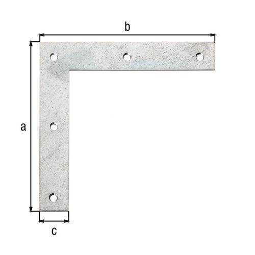GAH Alberts raamhoek verzinkt 120x120x20mm