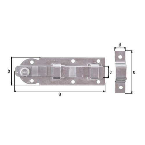 Verrou de fenêtre GAH Albertsdroit + contre-pièce attachée en acier inoxydable 80mm