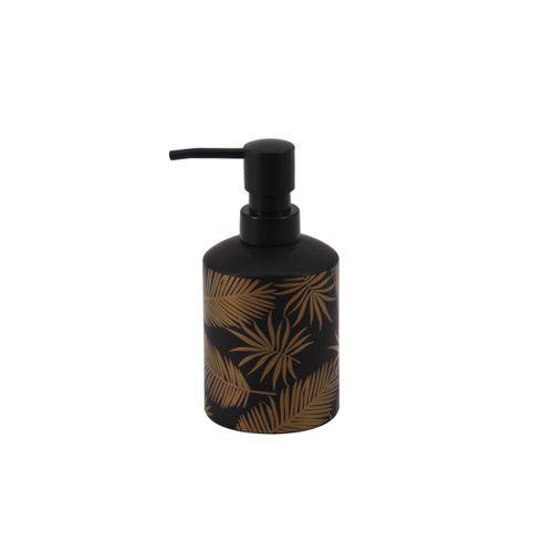 Allibert zeepdispenser Oural zwart/goud